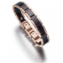 Lunavit Keramik/Titan Armband Olymp Jade Rose/Schwarz