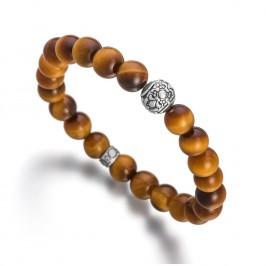 Lunavit Aton Magnet-Perlenarmband mit schimmernden Tigeraugen Edelsteinen