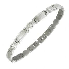 Magnetschmuck Armband - Lady Silber Zirkonia