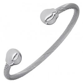 Magnetspange - Twist Silber