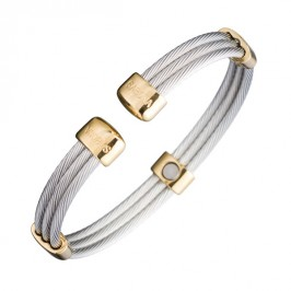 Magnetspange - Trio Cable Stainless Gold