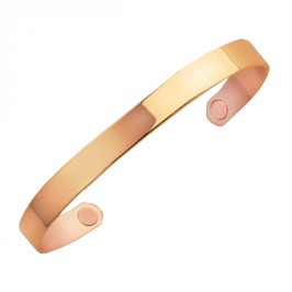 SABONA OF LONDON Kupfer-Magnetarmspange Gold Original - goldplatinierter Armreif aus 99,9 % reinem Elektrolytenkupfer mit 2 Samarium-Cobalt (SmCo) Magneten mit der Kraft von jeweils 1800 Gauß