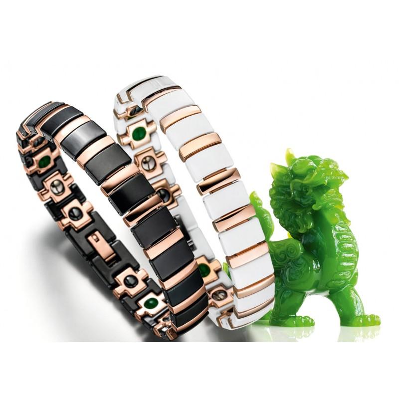 Lunavit Titan Jade Keramik/Magnetarmbänder
